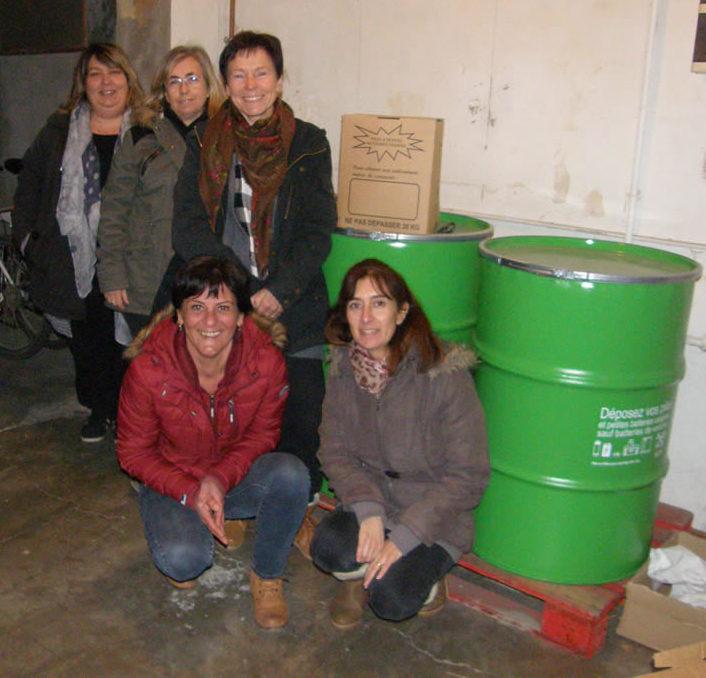 La coordination AFM du Gard participe à la collecte de piles pour le Téléthon 2017